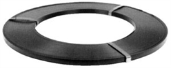 "1 1/4"" x .025"" High Tensile Steel Strapping Ribbon Wound, painted black and waxed"