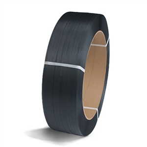 "1/2"" Black Polypropylene Strapping - 16 x 6"" Core"